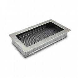 fém kandalló szellőzőrács, polírozott 17×30 sima