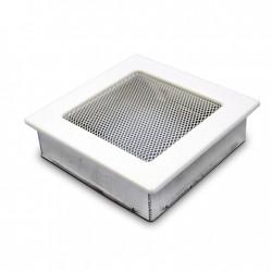 fém szellőzőrács kandallóhoz, fehér 17×17 sima