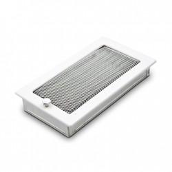 fém szellőzőrács kandallóhoz, fehér 17×30 zsalus