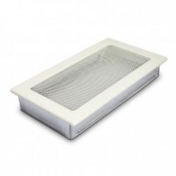 fém szellőzőrács kandallóhoz, feher 17×30 sima